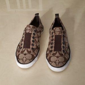 Coach Summer brown slip on sneakers 6